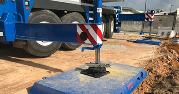 Crane pad on uneven surface 400x210