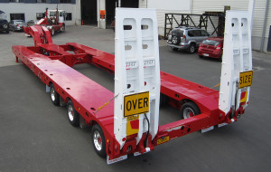 3x8 Swing Wing Low Loader clear cut